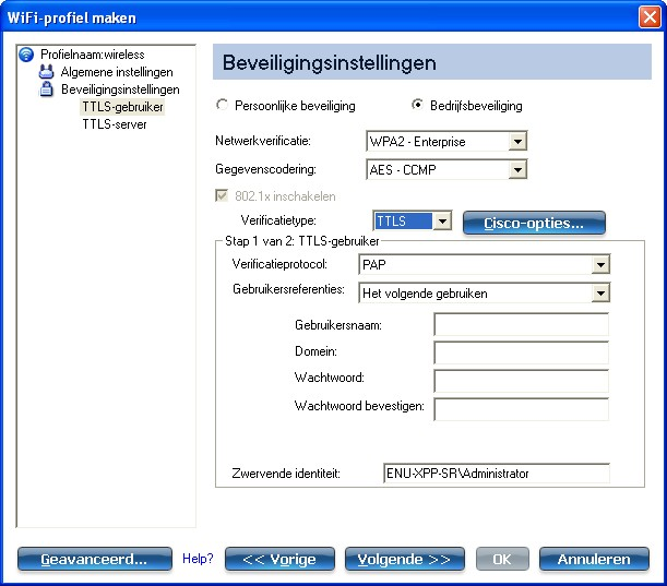 Profielen Configureren Voor De Uitvoermodus Netwerk